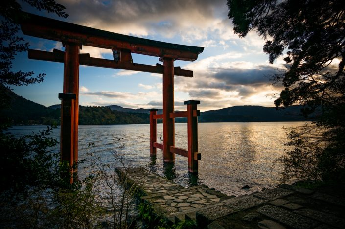 Torii at Lake Ashi